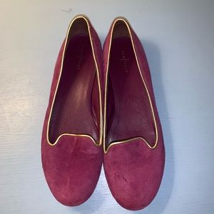 Purple & Gold Cole Haan Suede Slippers Flats